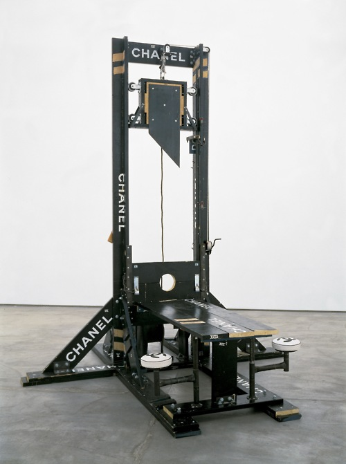 "devidsketchbook-art:Ron Ulicny: ""Chanel Guillotine"", 1998By: TOM SACHS"